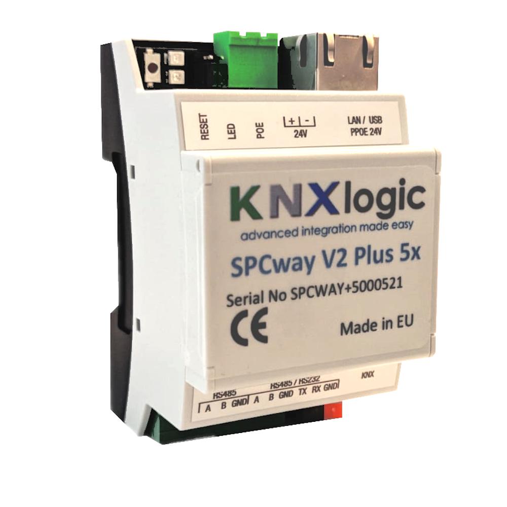 SPCway V2 - SPC panel automation gateway - KNX, modbus, BACnet, API