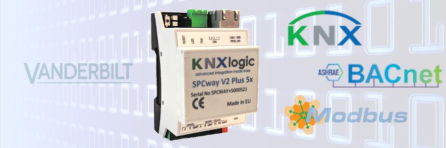 SPCway V2 - interface KNX et modbus pour paneaux SPC